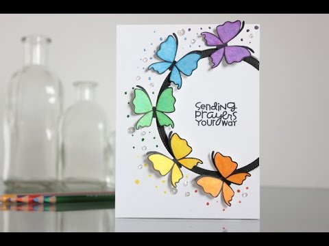 Colorful Butterflies With Paper Smooches Youtube