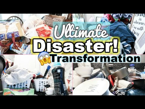 ULTIMATE MESSY HOUSE CLEAN WITH ME 2019 | ALL DAY WHOLE HOUSE TRANSFORMATION | SAHM MOTIVATION