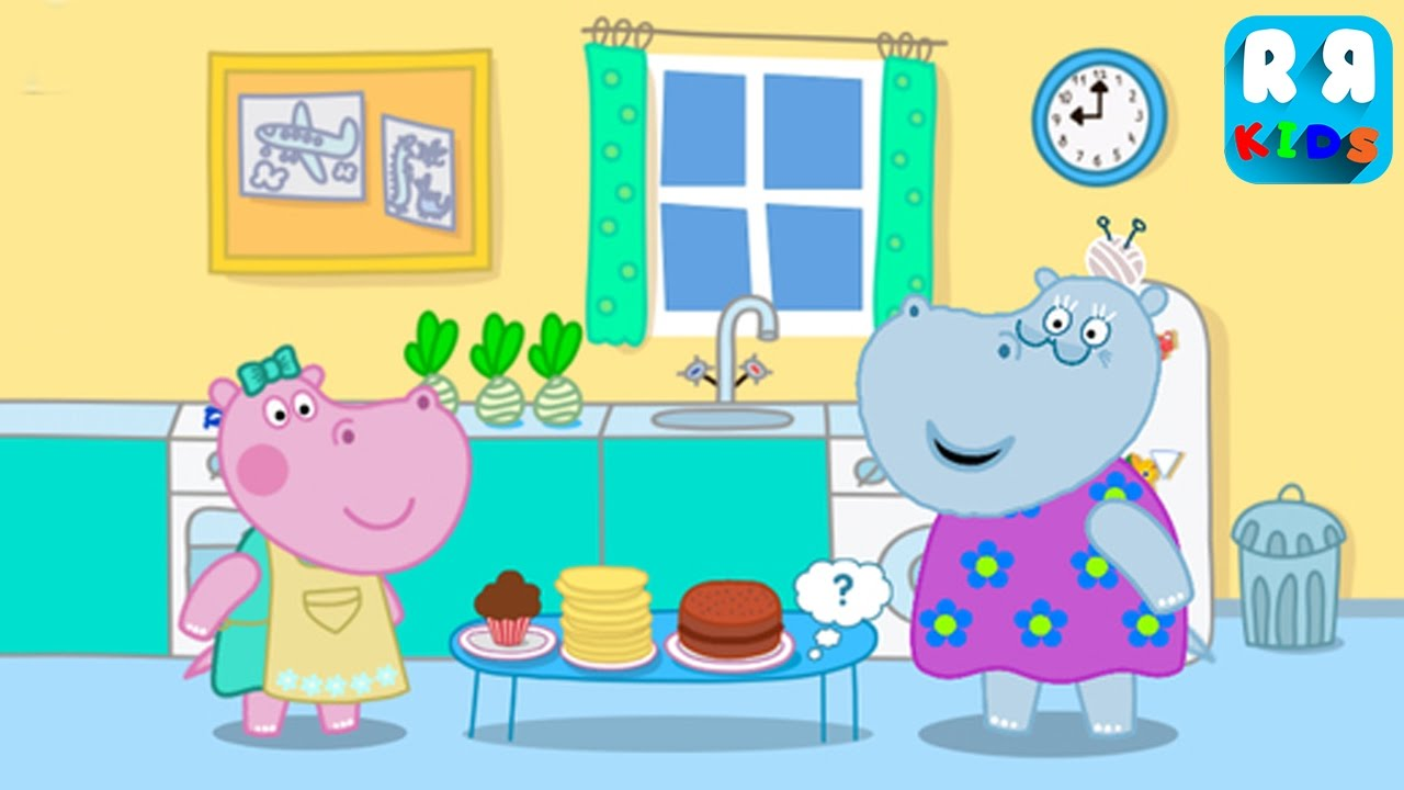 Hippo Pepa Baby Cooking School - New Best Apps for Kids - YouTube