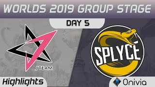 JT vs SPY Highlights Worlds 2019 Main Event Group Stage J Team vs Splyce by Onivia
