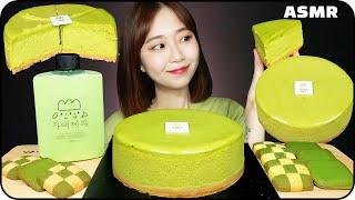 ASMR GREEN TEA CAKE DESSERT 오설…