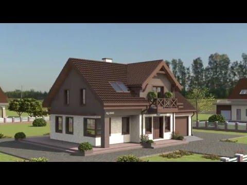 Проект дома с мансардным этажом Rg4945
