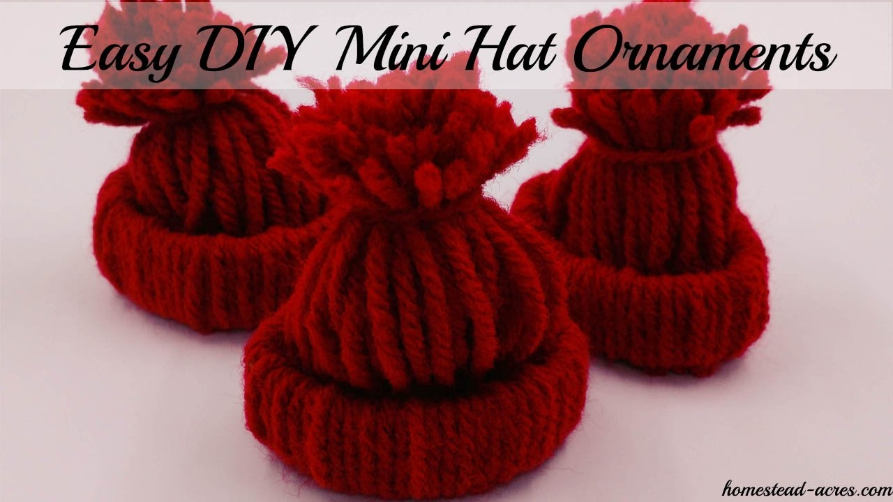 How To Make A Mini Hat Christmas Ornament - YouTube
