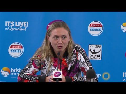 Aliaksandra Sasnovich press conference (SF) Brisbane International 2018