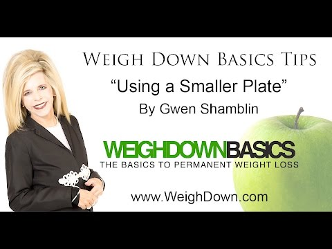 "Weigh Down Basics Tips: ""Using a Smaller Plate"""