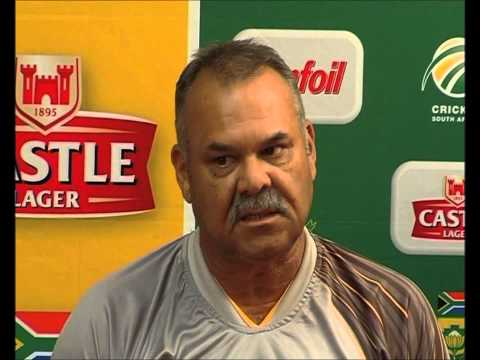 Dav Whatmore, 15/2/2013, Speaks to the Press after Day 2 of the 2nd Test between SA & Pakistan