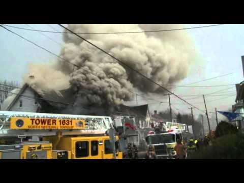 3rd-alarm house fire; Slatington, PA