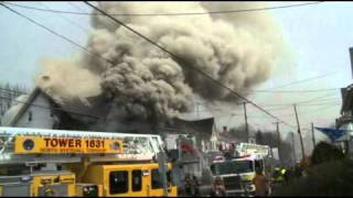 3rd-alarm house fire; Slatington, PA