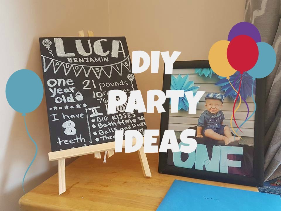 Baby Boys First Birthday Diy Ideas Youtube