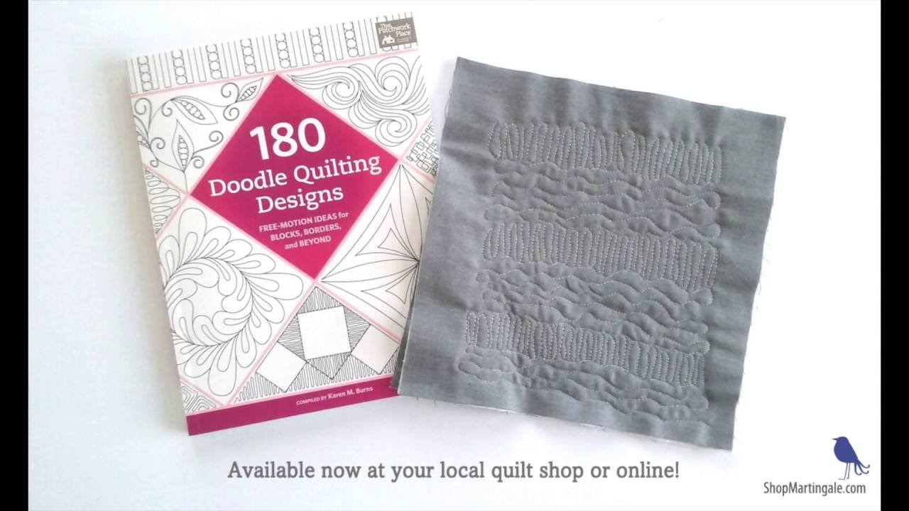 Learn to free-motion quilt with doodle patterns - YouTube