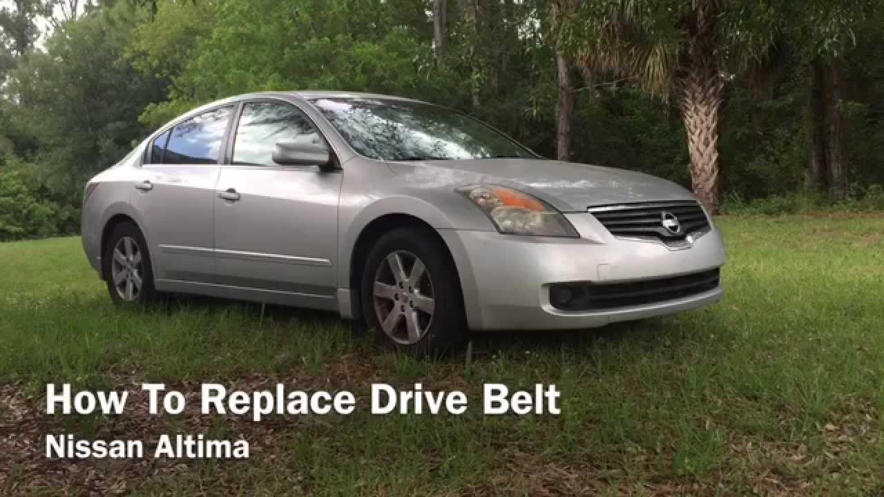 how to replace serpentine drive belt nissan altima 2007 2012 youtube [ 1280 x 720 Pixel ]