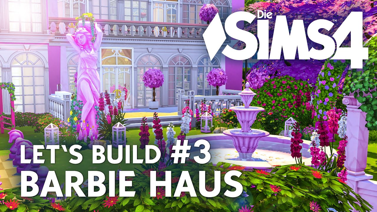 die sims 4 let 39 s build barbie haus 3 garten bauen deutsch youtube. Black Bedroom Furniture Sets. Home Design Ideas