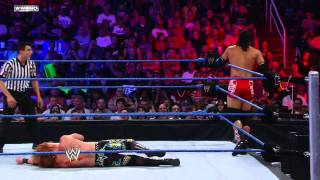 Tyson Kidd, Justin Gabriel, and Heath Slater vs The Usos and Trent Baretta - WWE Superstars