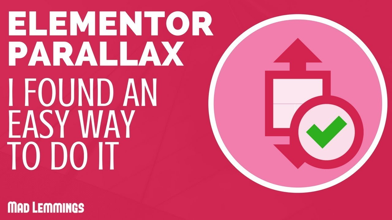 Elementor Parallax - The Simplest Way To Do It