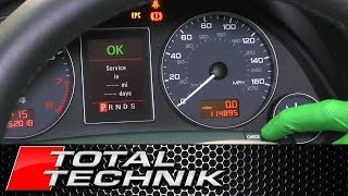 How to Reset the Service Indicator Light - Audi A4 S4 RS4 - B6 B7 - 2001-2008 - TOTAL TECHNIK