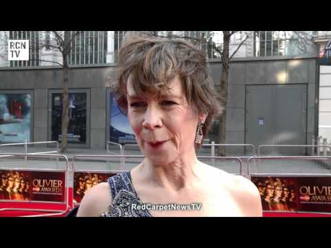 Celia Imrie Interview - Olivier Awards 2012