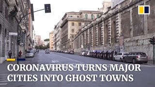 Coronavirus: Home quarantine and social distancing turns world cities into virtual ghost towns