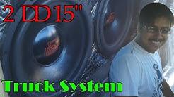 """Pickup con 2 15"""" Digital Designs   Amplificador Sound Magus PK1500.1   Car Audio México"""