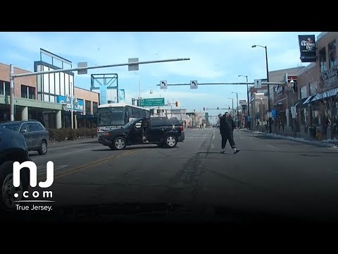 Dash cam footage shows police shoot man 45 times after high-speed chase in Atlantic City