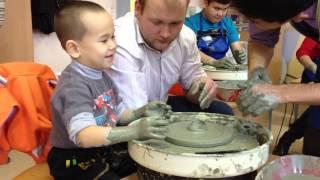 Уроки лепки из глины для детей с ДЦП, Уральск