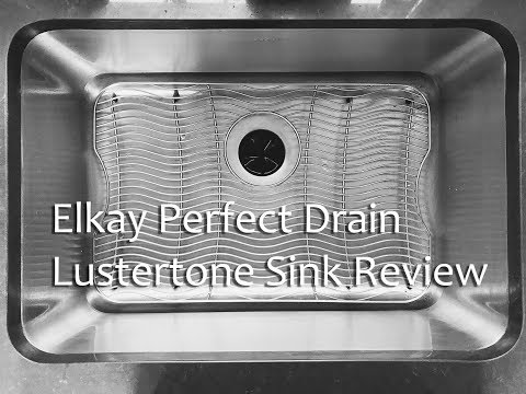 Elkay Lustertone Perfect Drain Stainless Steel Sink Quick Review! ELUH241610PD