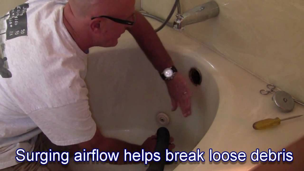 How To Clear A Bathtub Drain With Vac