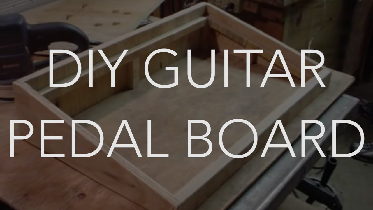 My New Do It Yourself Home Made Guitar Pedal Board DIY ... - photo#40