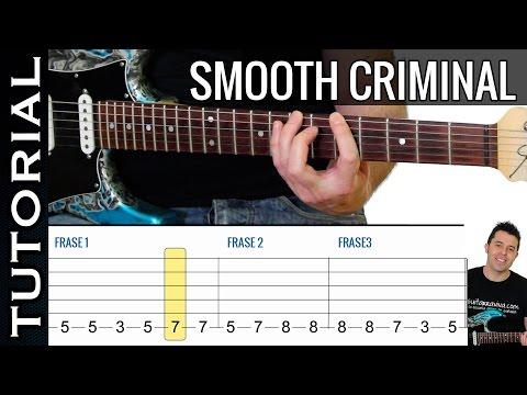 Como tocar Smooth Criminal de Michael Jackson en guitarra tutorial completo