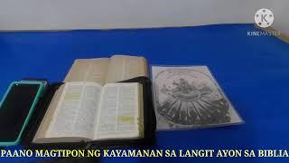 PAANO MAGTIPON NG KAYAMANAN SA LANGIT AYON SA BIBLIA