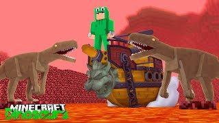 THE HIDDEN ANCIENT WORLD - Minecraft Dinosaurs w Little Lizard