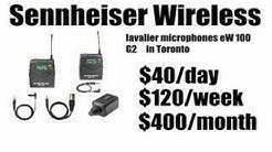 SENNHEISER Wireless LAVs - BROADCAST Microphones for RENT