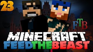 Minecraft Modded Survival - FTB 23 - THE BATTLE OF THE PURPLE WEINERS