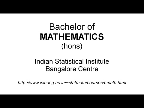 Bachelor of Mathematics (BMath) | ISI Bangalore