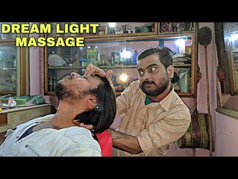 Dream light Head massage by Indian barber | soft massage for sleep | ASMR