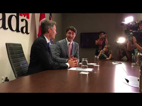 Trudeau and Robertson meet the press