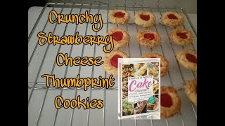 Crunchy Strawberry Cheese Thumbprint Cookies resep Tintin Reyner