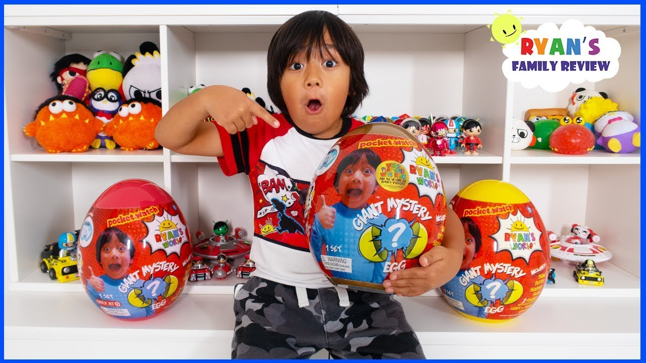 Ryan Reacts To New Toy Room With Golden Mystery Egg