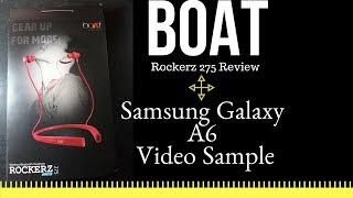Boat Rockerz 275 Sports Bluetooth Wireless Earphone Review Samsung Galaxy A6 Smartphone Video Sample