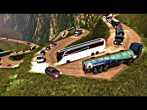Worlds most dangerous and scariest road   SETRA bus driving   ETS2   Euro truck simulator 2  