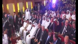 Mamish and Sultan Al Jaber and Yasser Zaghloul announce the start of dredging the canal