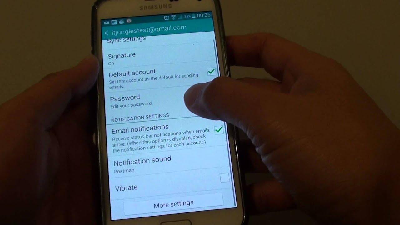samsung galaxy s3 mini email notification sound
