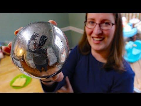 Mirror polishing aluminum foil ball (attempt #2)  - Japanese foil ball polishing challenge