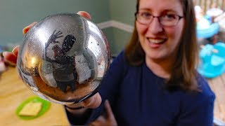 Mirror polishing aluminum foil ball (attempt #2)  - Japanese foil ball polishing challenge