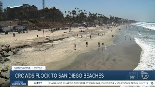 Crowds flock to San Diego beaches