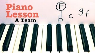 A Team- Piano Lesson (EASY) Ed Sheeran   (Todd Downing)