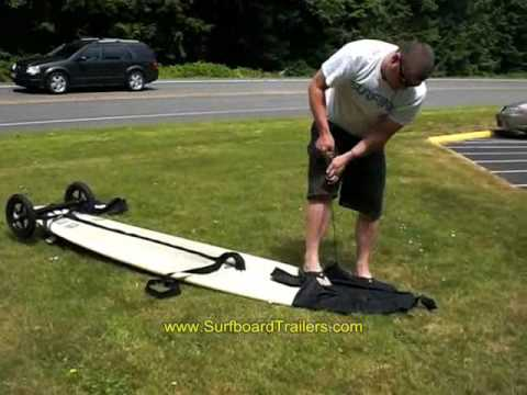 Surfboard Trailer In Action At Short Sands YouTube