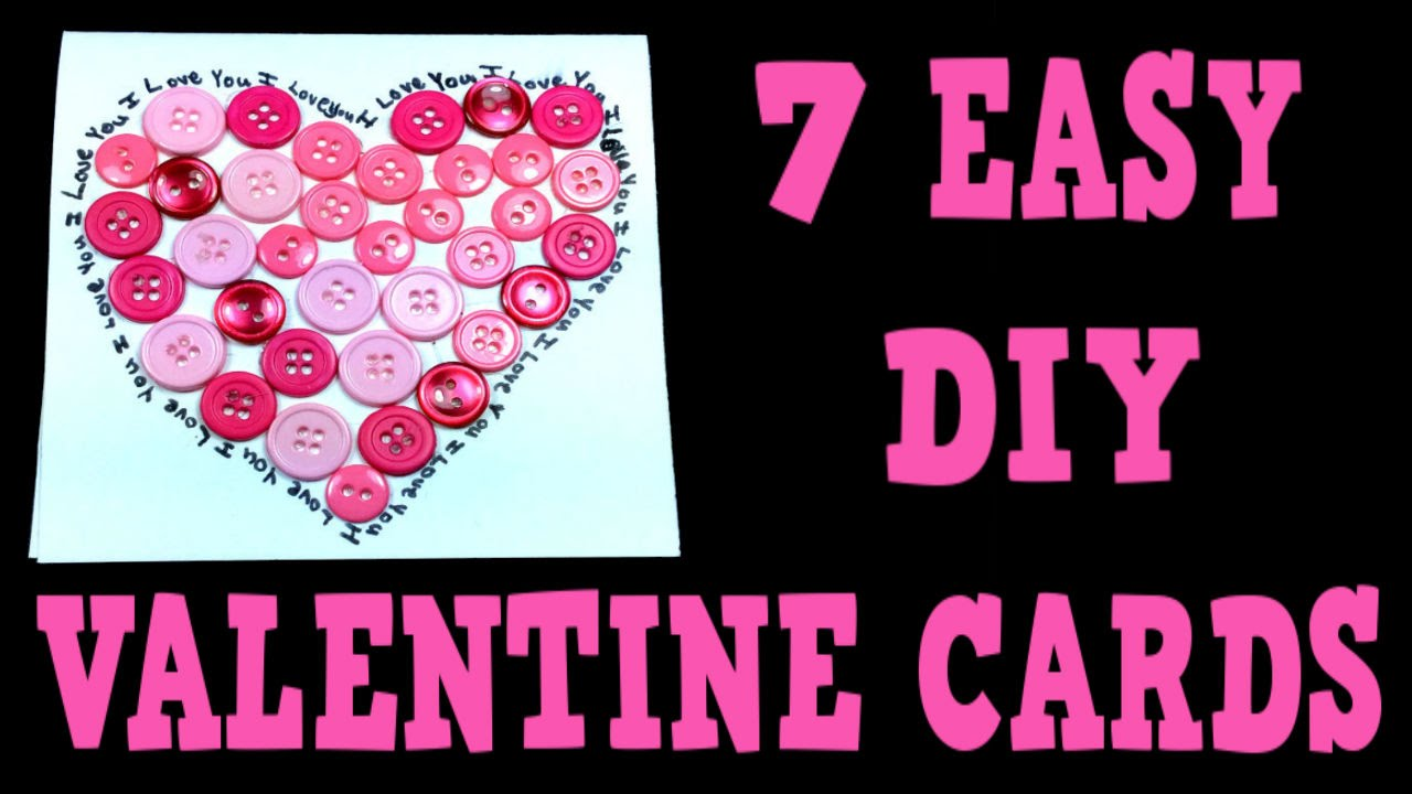 7 EASY DIY VALENTINE CARDS Valentine Card Making Ideas For 2016 – Homemade Valentine Cards Ideas
