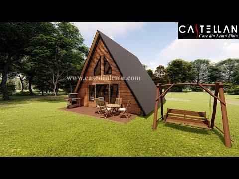 Casa Cabana Din Lemn Tip A Youtube