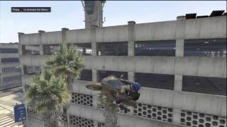 GTA 5 - PARKING GARAGE ENTRY STUNT -