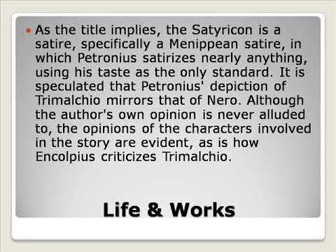 Gaius Petronius Arbiter Life &  Works